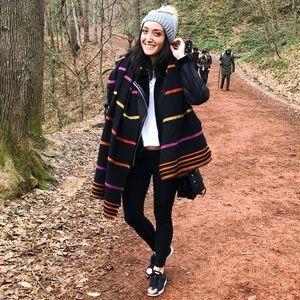 Zara Oversized Blanket Scarf Striped LIKE NEW